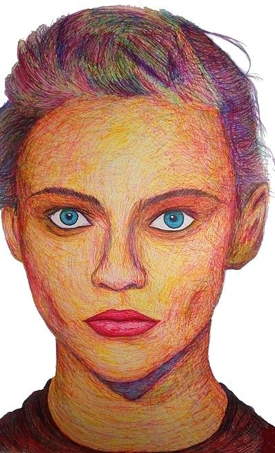 Sasha Pivavorova - magic marker on paper 42''X73 ''