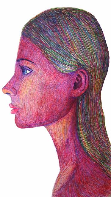 Jandra Dziaugyte - magic marker on paper 48''X92 ''