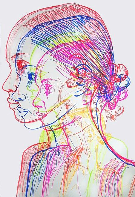 "Justina Ruthkowska - magic marker on paper 24""X36"""