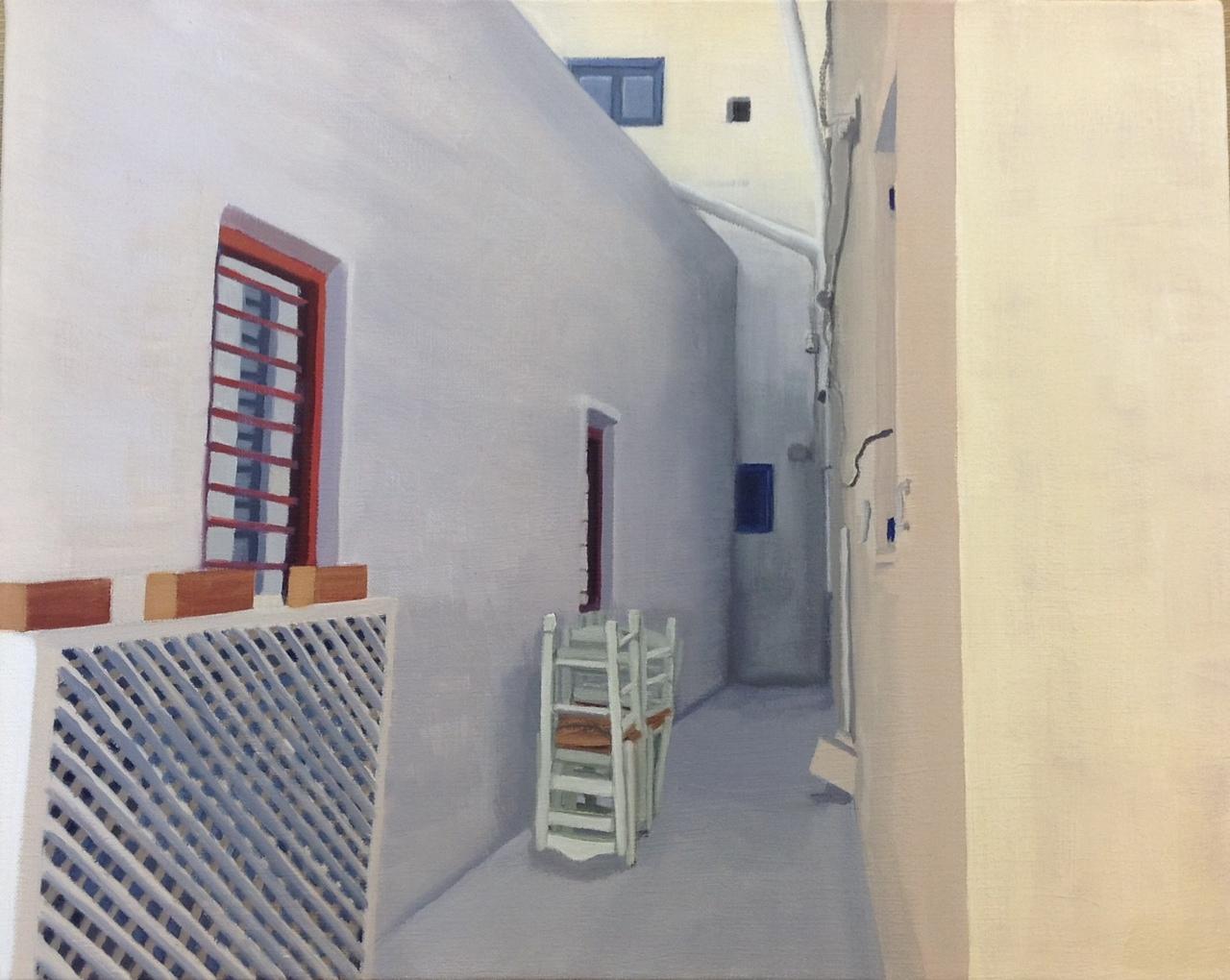 Alley in Santorini