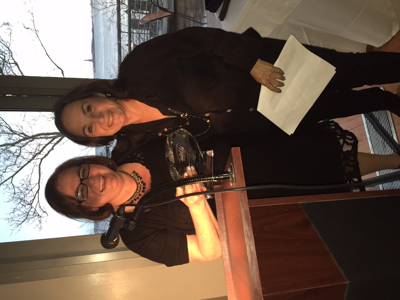Honoree Dr. Penny Prince was introduced by MEANYC member Linda LoPresti