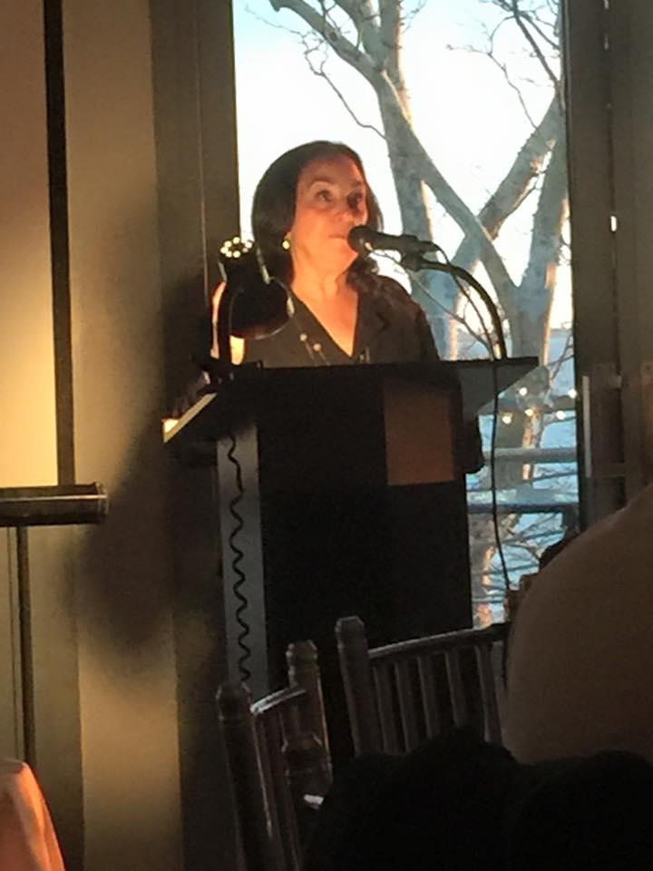 MEANYC member Linda LoPresti introducingHonoree Dr. Penny Prince