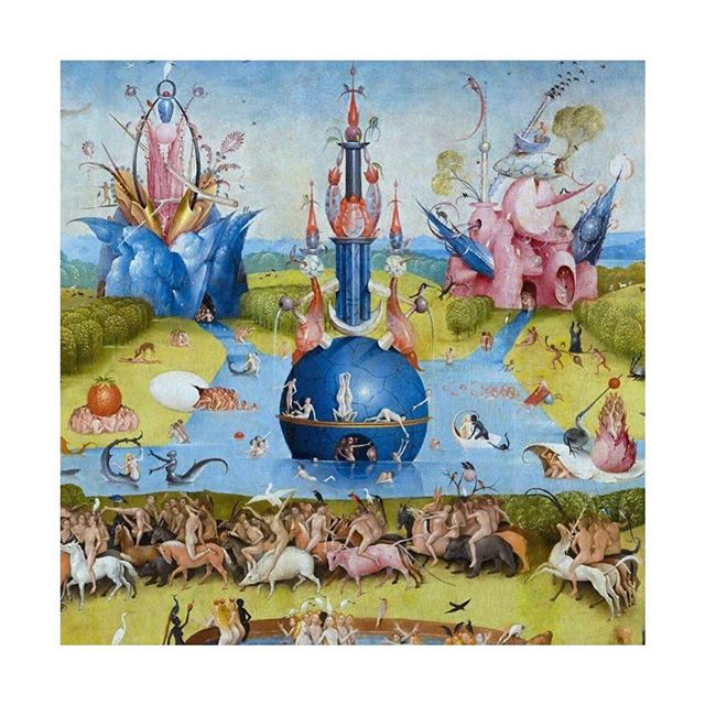 "This is my most beloved work of art. I've looked at it almost every day since childhood, and always find something new. #TheGardenofEarthlyDelights absolutely shaped my early visions of Heaven and ""Hell"" + #HieronymousBosch was absolutely dialed to another dimension of consciousness! Bosch is definitely someone I would love to go back in time and dialogue with, I can't even imagine what insight (or insanity) he would have to share! What is your favorite work of art, and why? How do you feel creativity can unlock higher levels of consciousness? LMK! ❤️"