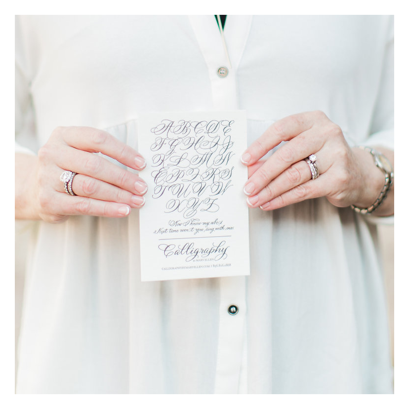 New Jersey Wedding Invitation Calligraphy   Calligraphy by Mary Ellen