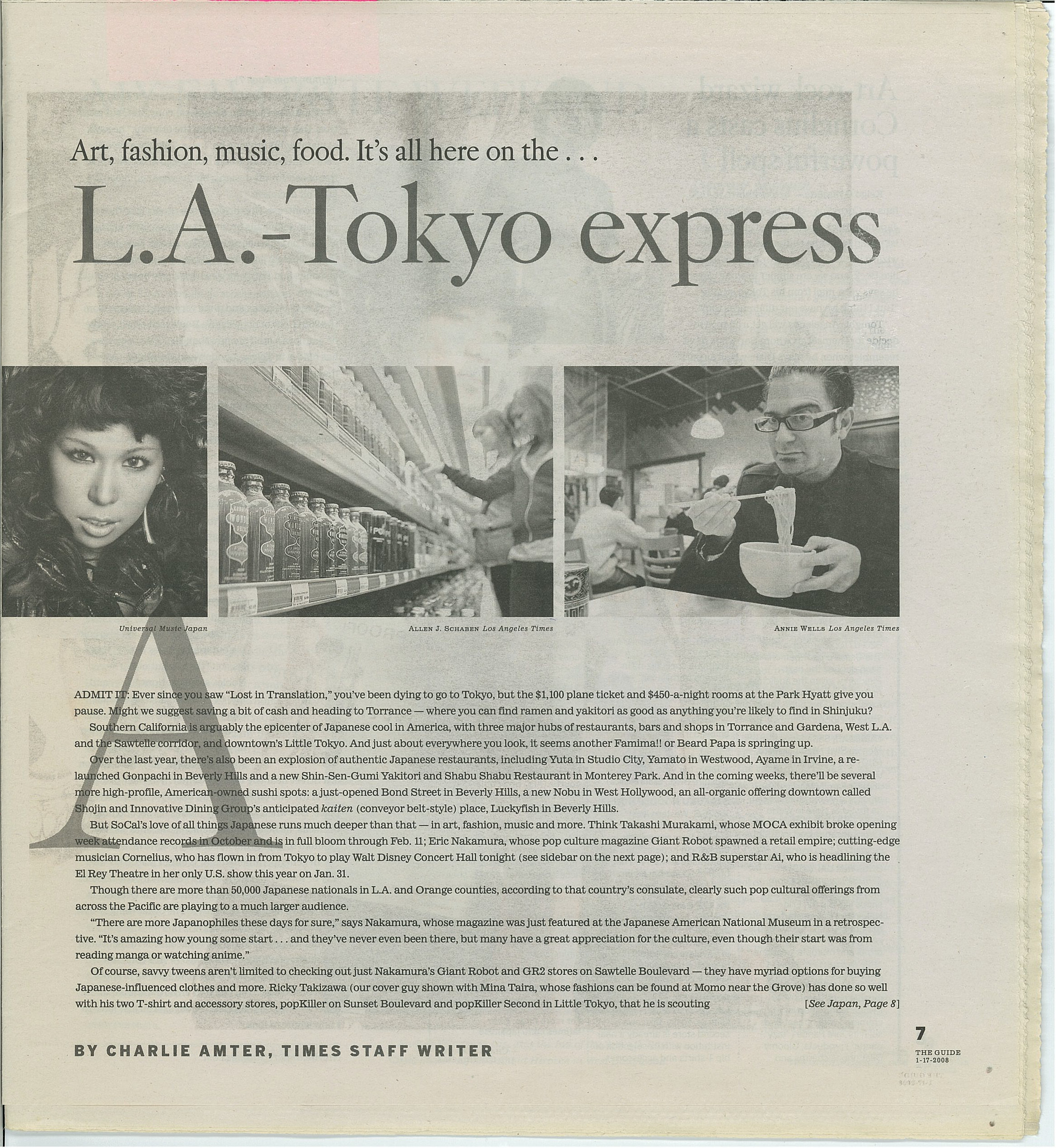 Article in LA Times, January 2008