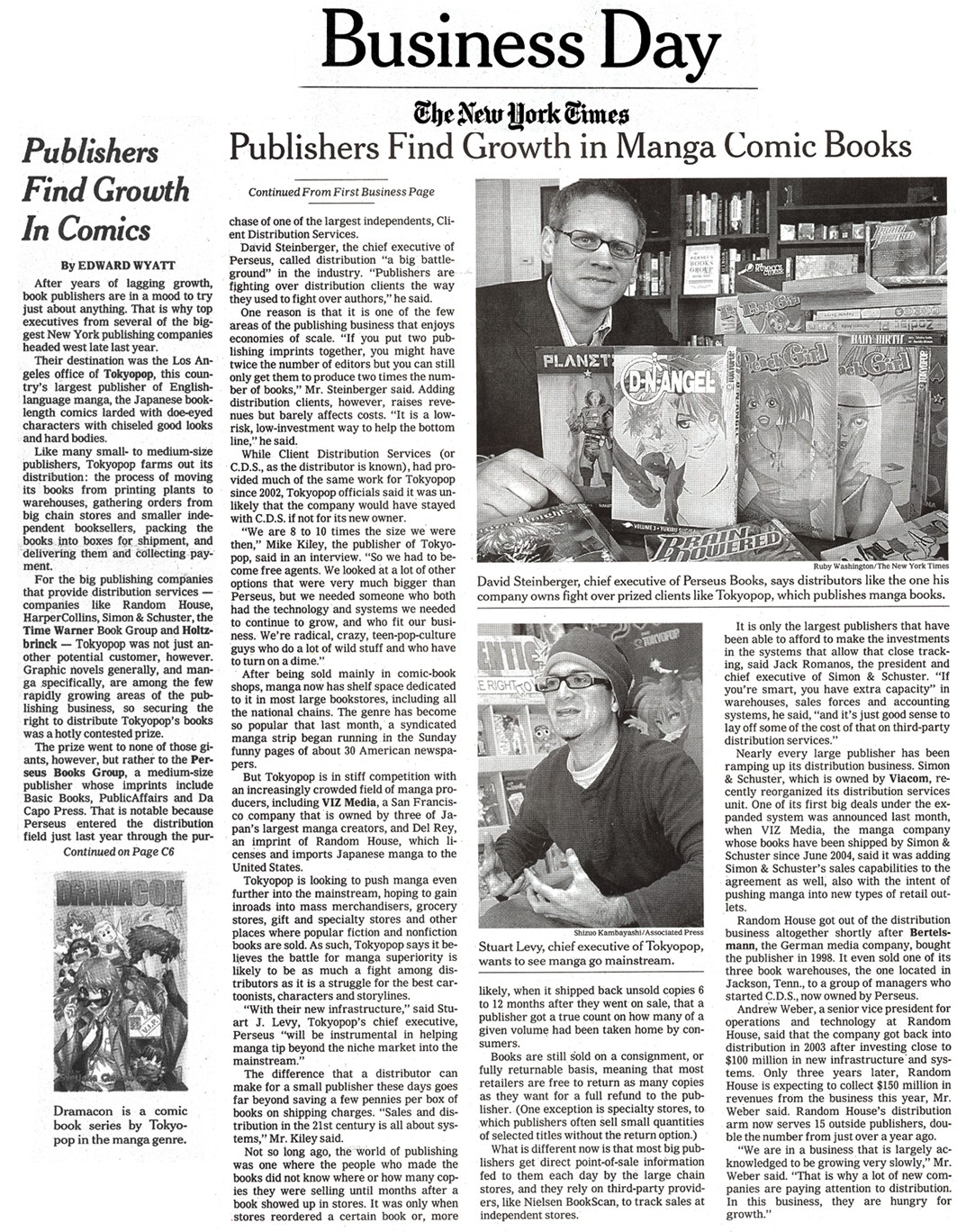 Article in New York Times, February 2006