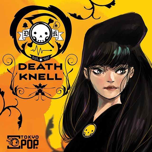 "Excited about ""Death Knell"", our new Digital First comic, designer specifically for mobile reading - from talented creator Tim Smith 3!! #comics #tokyopop #webtoon #digitalart #grimreaper"