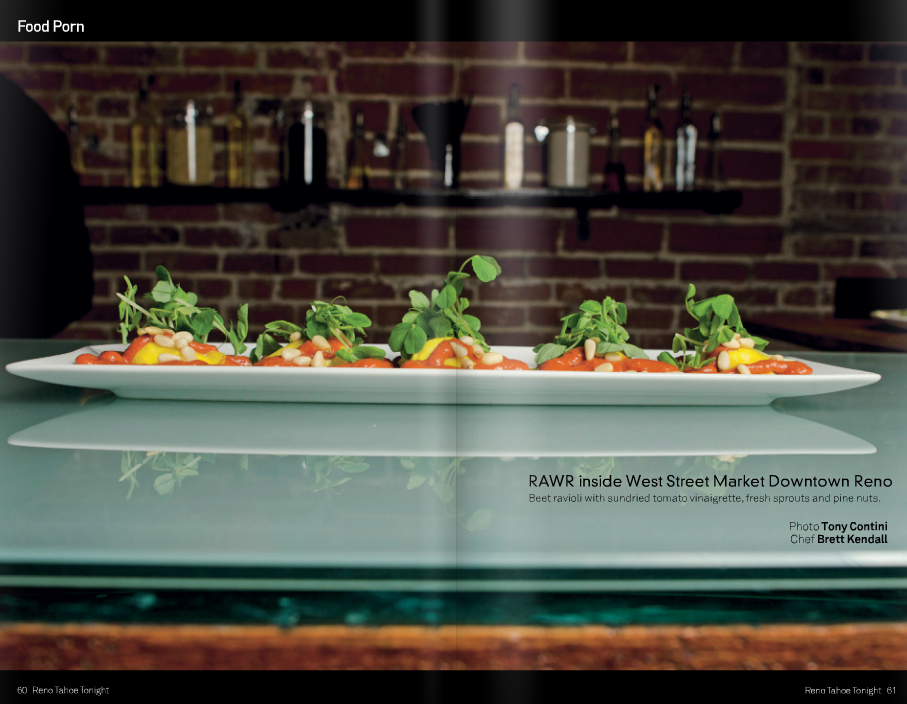 raw, vegan golden beet ravioli as featured in   Reno Tahoe Tonight