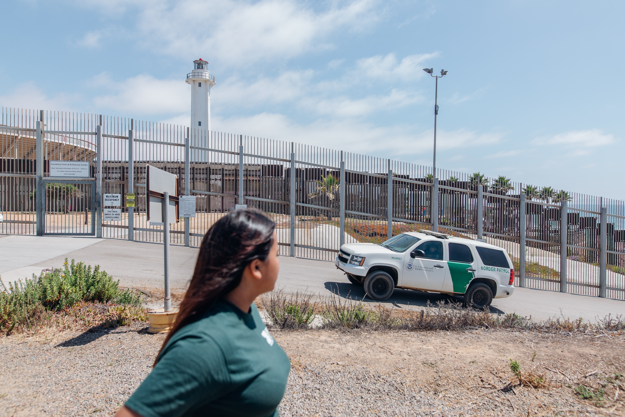 DACA recipient, Sandra Sanchez leads a group of volunteers with Border Angels to Friendship Park in San Diego, California for Cosmopolitan.com - 2018