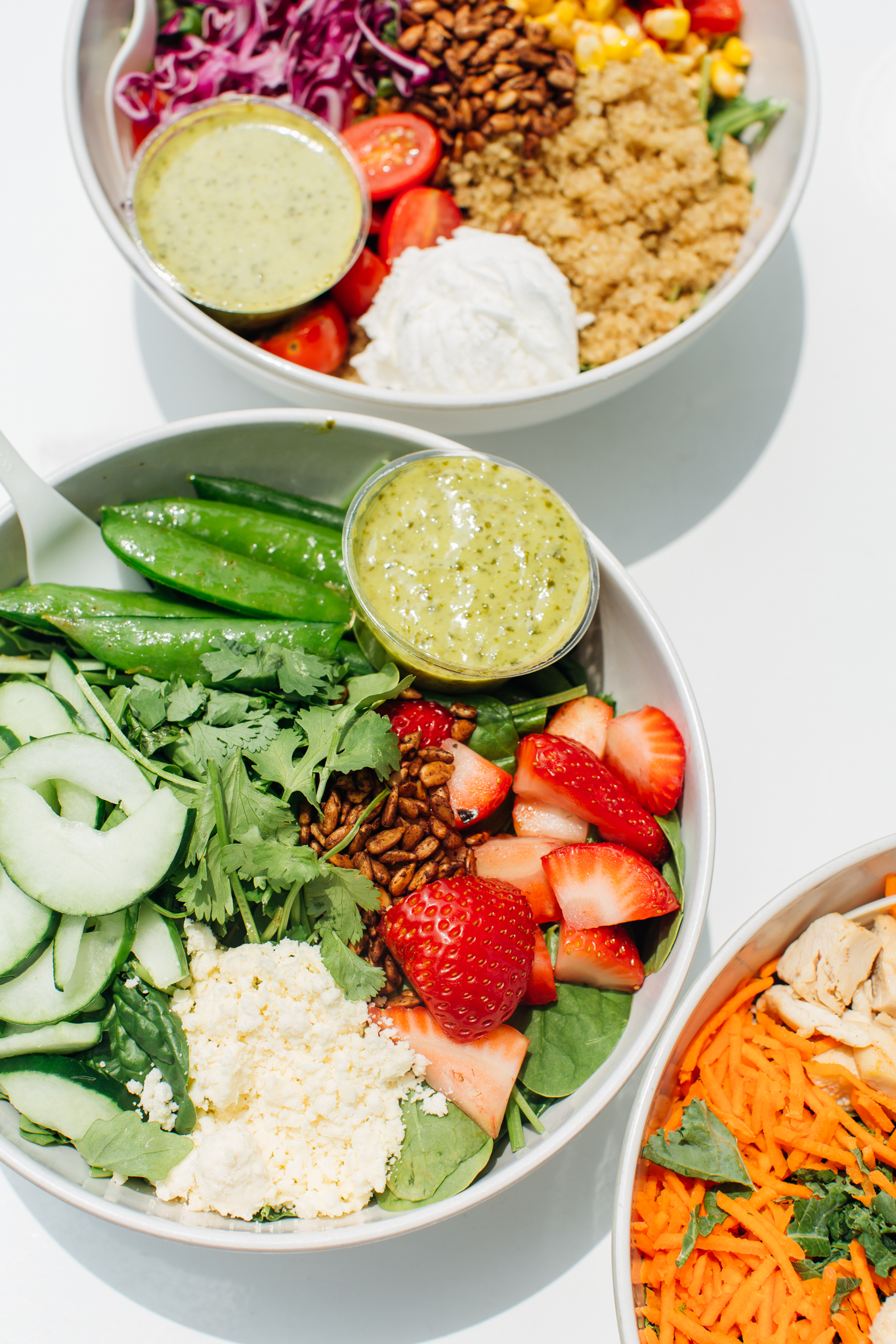 Sweetgreen strawberry and snap pea salad in Washington, D.C. on June 15, 2017.