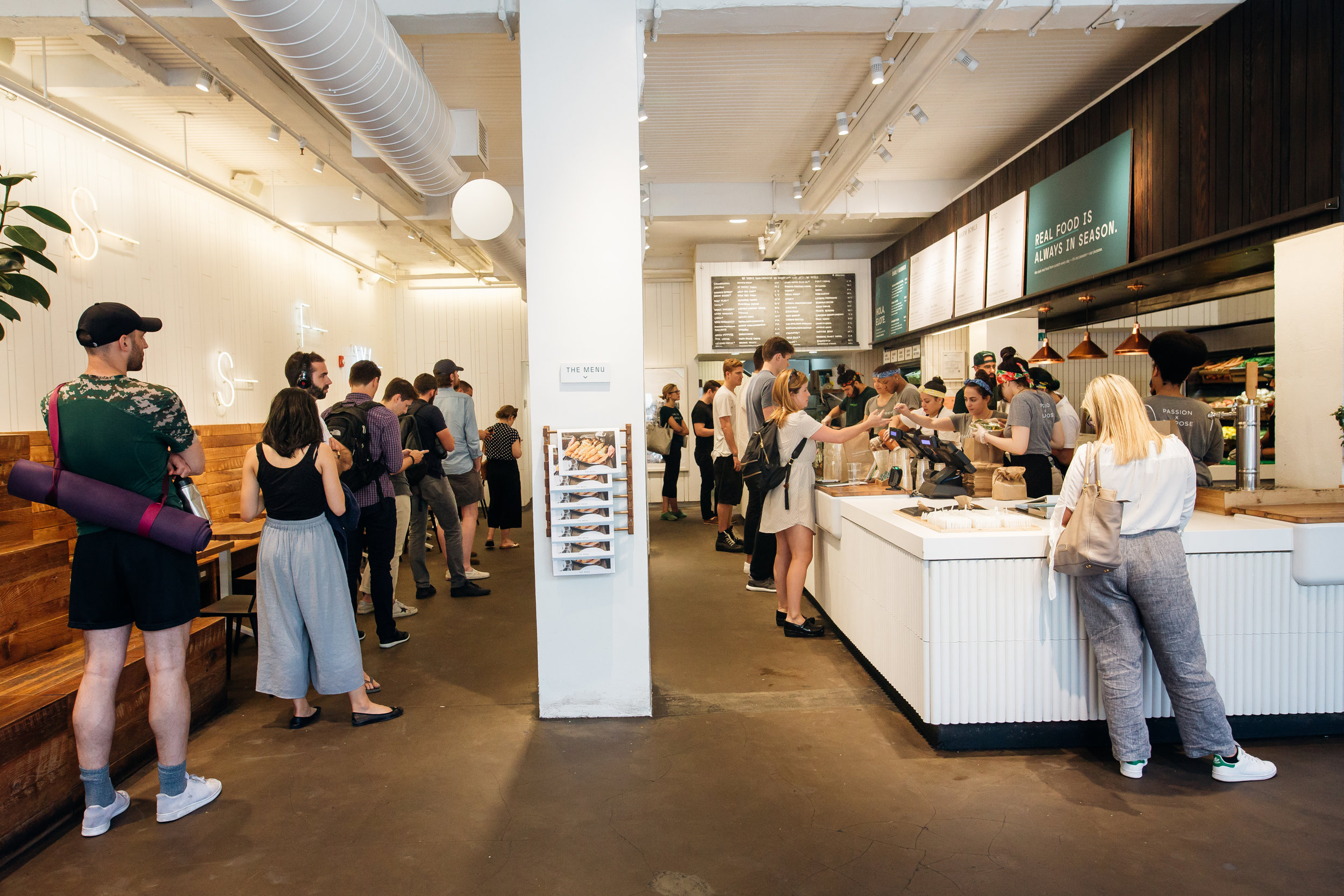 sweetgreen was first launched in Washington, D.C. where the three founders went to college before moving headquarters to Los Angeles, California.