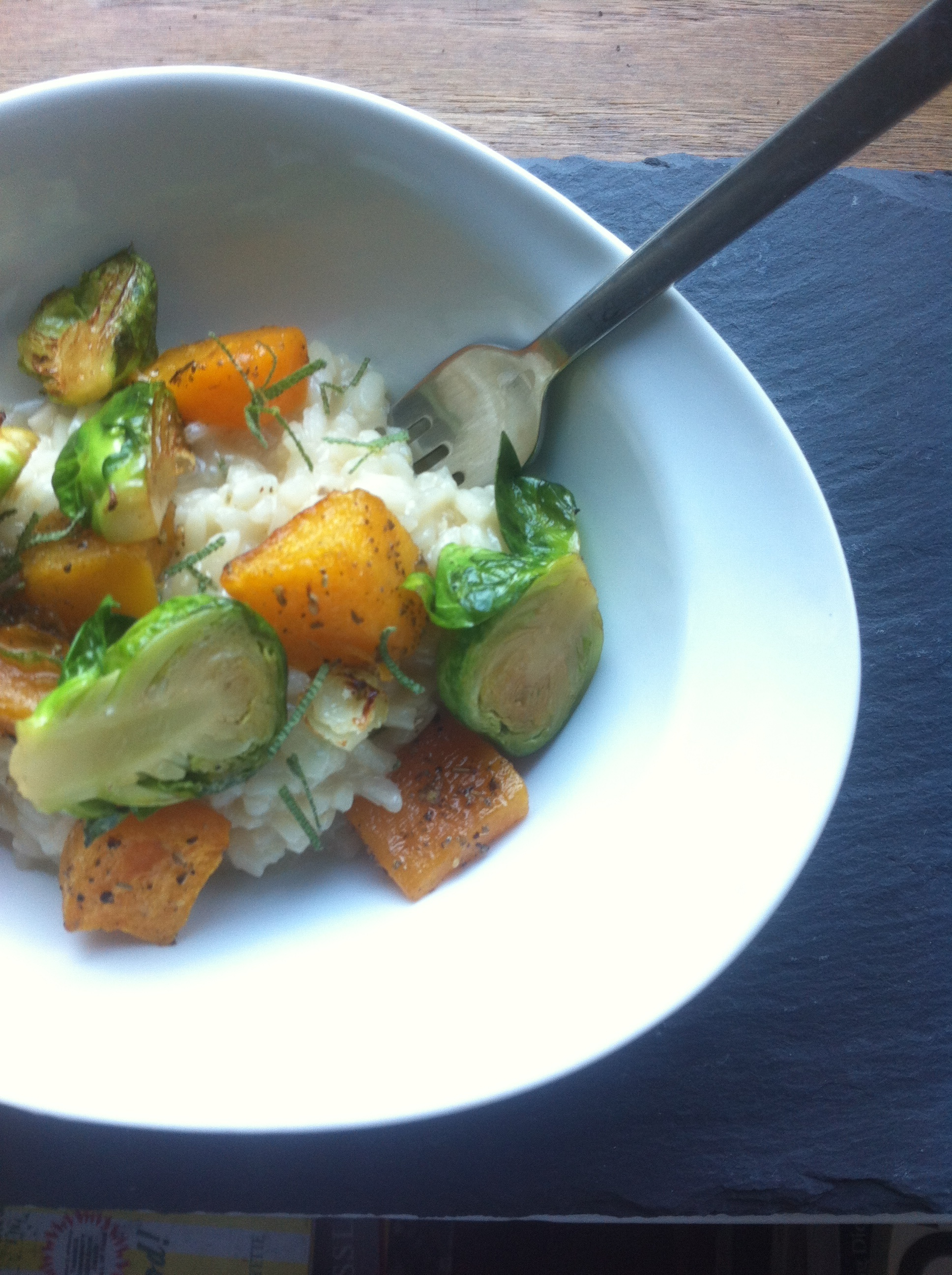 golden brown co catering butternut squash and brussel sprout risotto.jpg