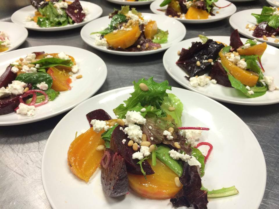 red and gold beet salad | goat cheese | sherry cumin vinaigrette | golden brown co catering | chef jay mullins | revolver.jpg