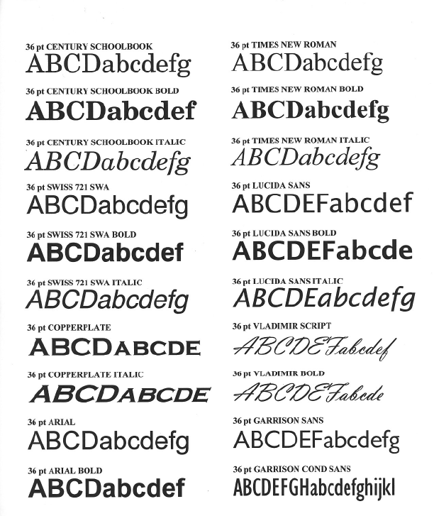 Letter Font Styles