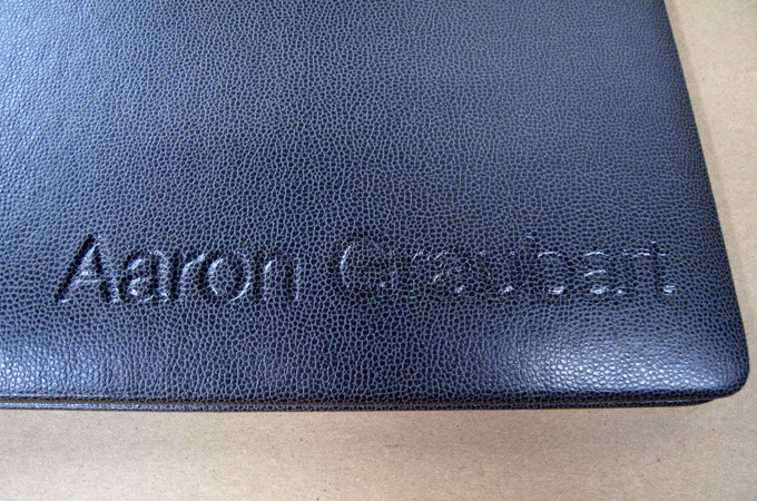 Branded Leather Portfolio Book