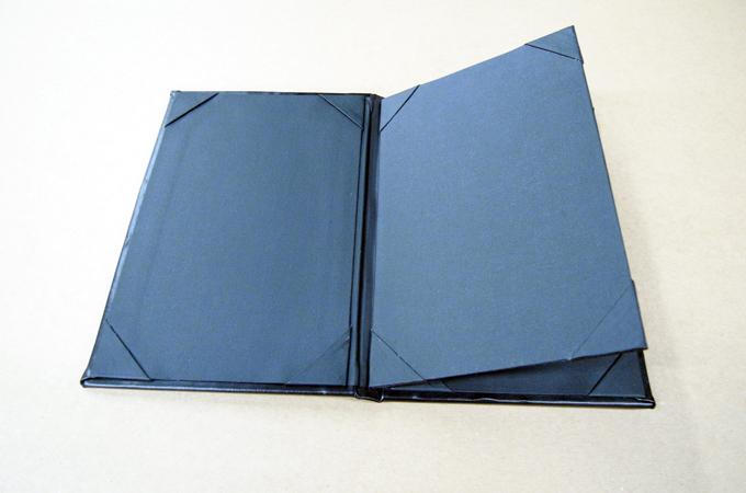 Three View Booklet Menu Cover