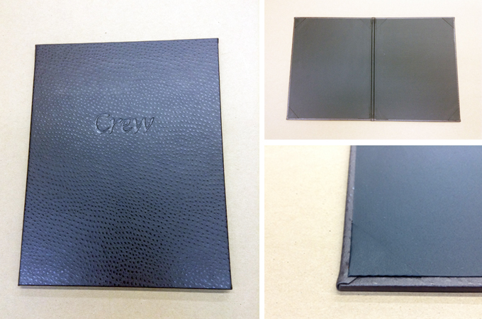 Textured Leather Menu Cover