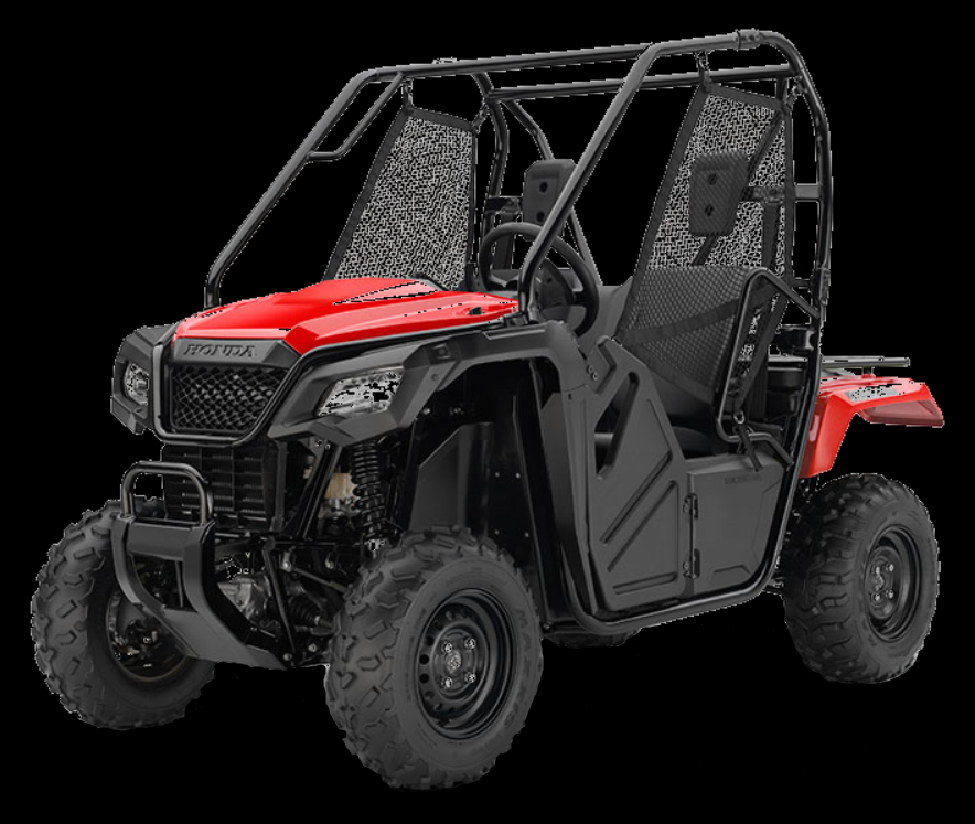 "500cc Pioneer UTV. - The first secret of getting away from it all is to go where most people can't And that's where the Pioneer 500 truly rocks, It comfortably seats two, and is only 50"" wide so you can explore trails with width restrictions and has lots of great features like automatic transmission with AT/MT modes."