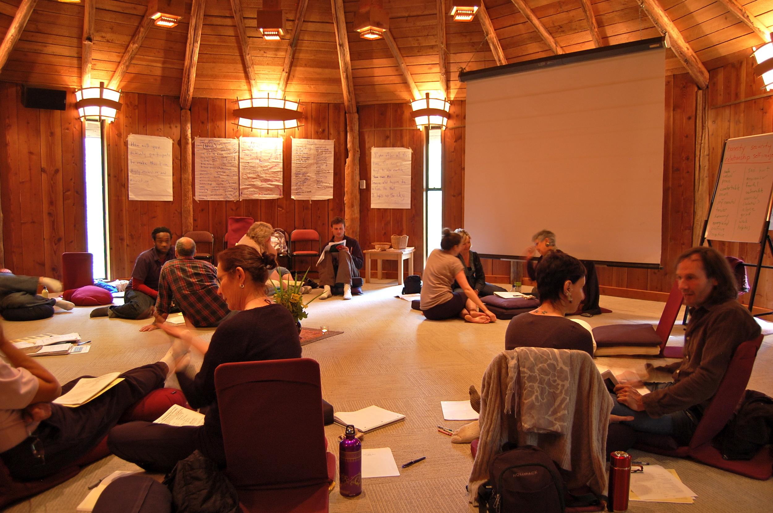 Hollyhock 5 day communication training in progress, Cortes BC