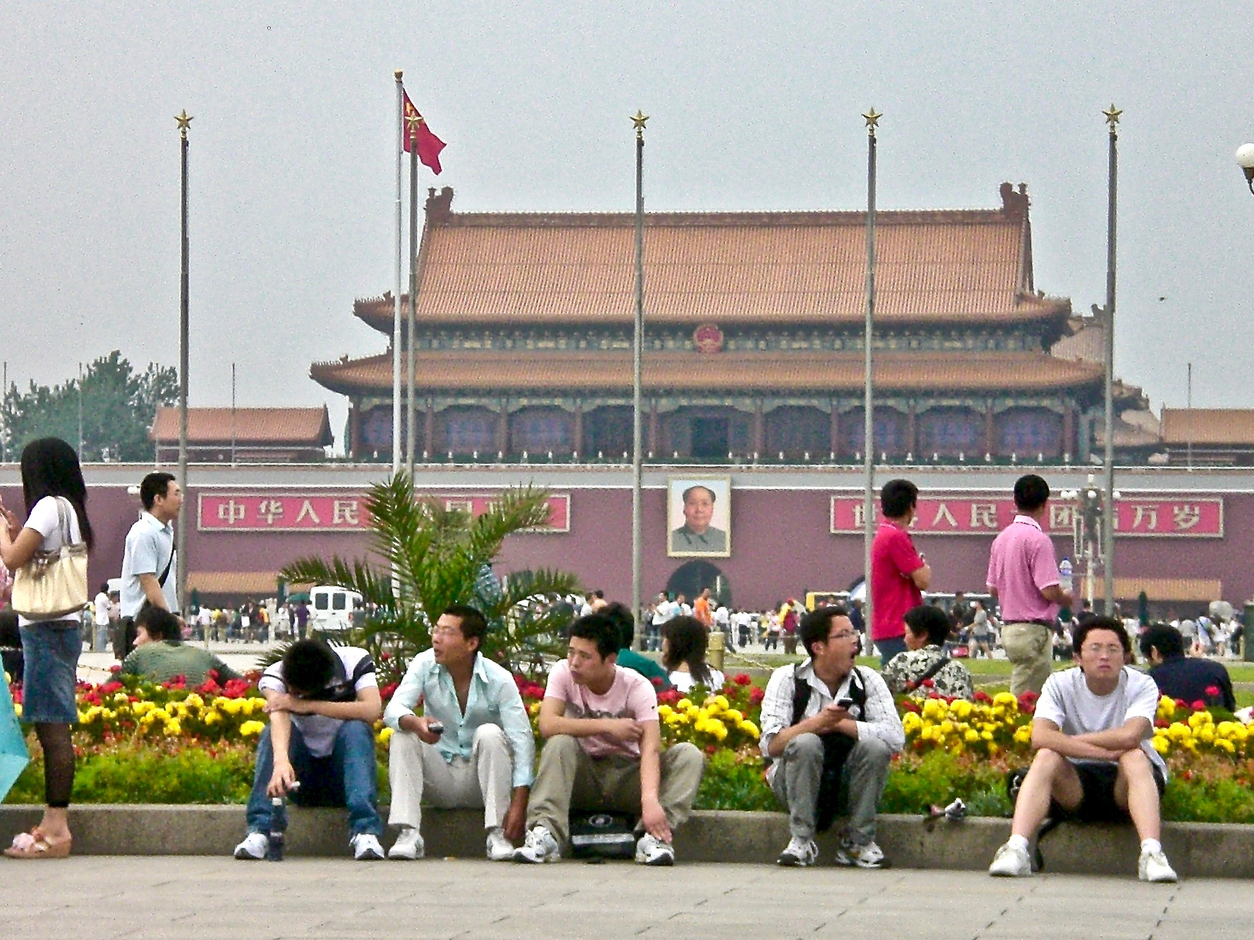 Chinese tourists on Tiananmen Square, Beijing. (C) Remko Tanis