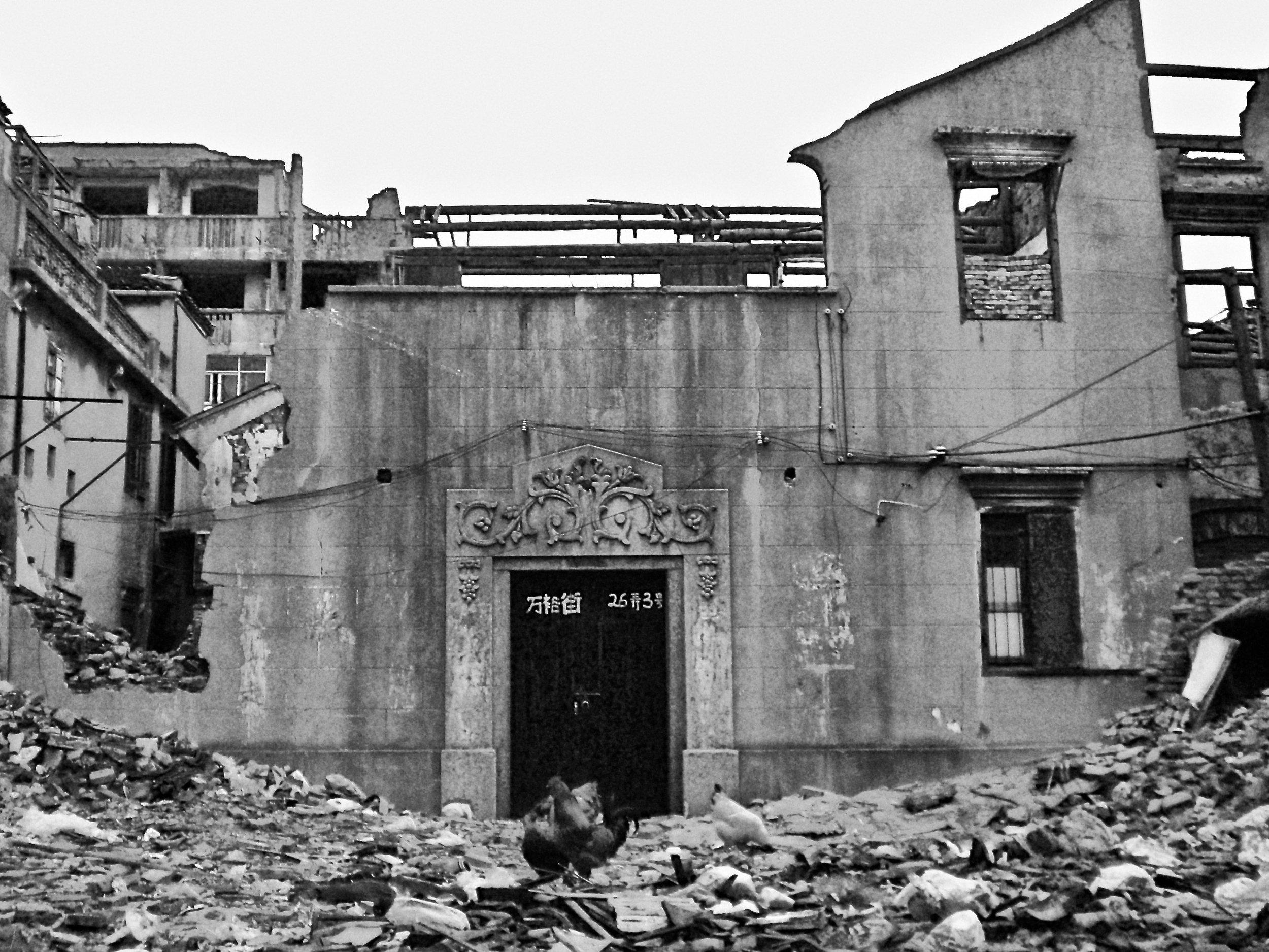 Demolished homes in Shanghai, China. (C) Remko Tanis