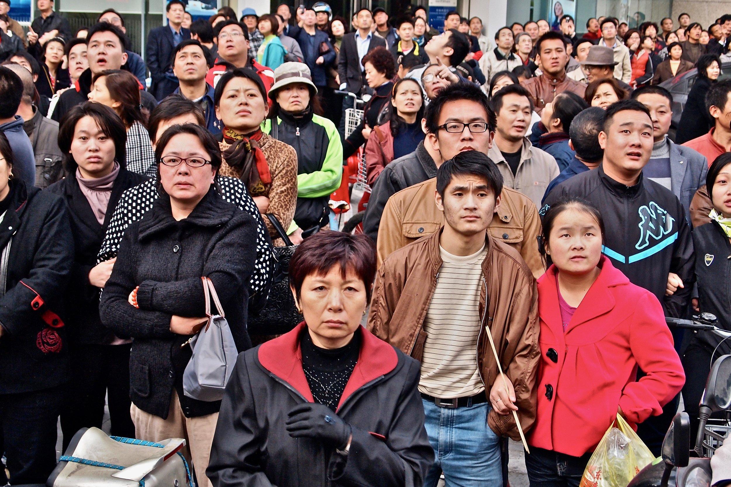Crowd in Shanghai, China. (C) Remko Tanis