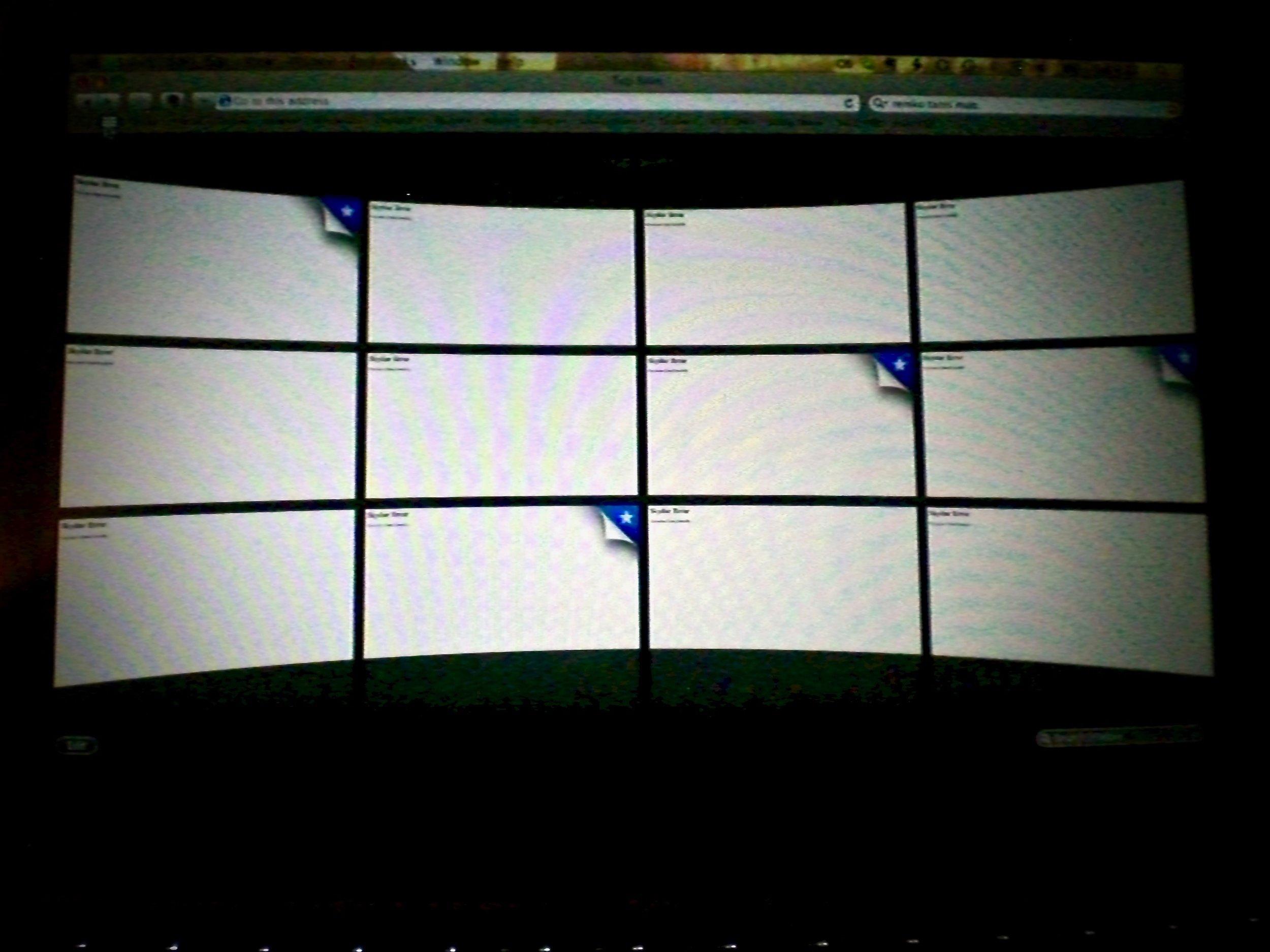 Internet censorship in China: blocked websites return white screens. (C) Remko Tanis