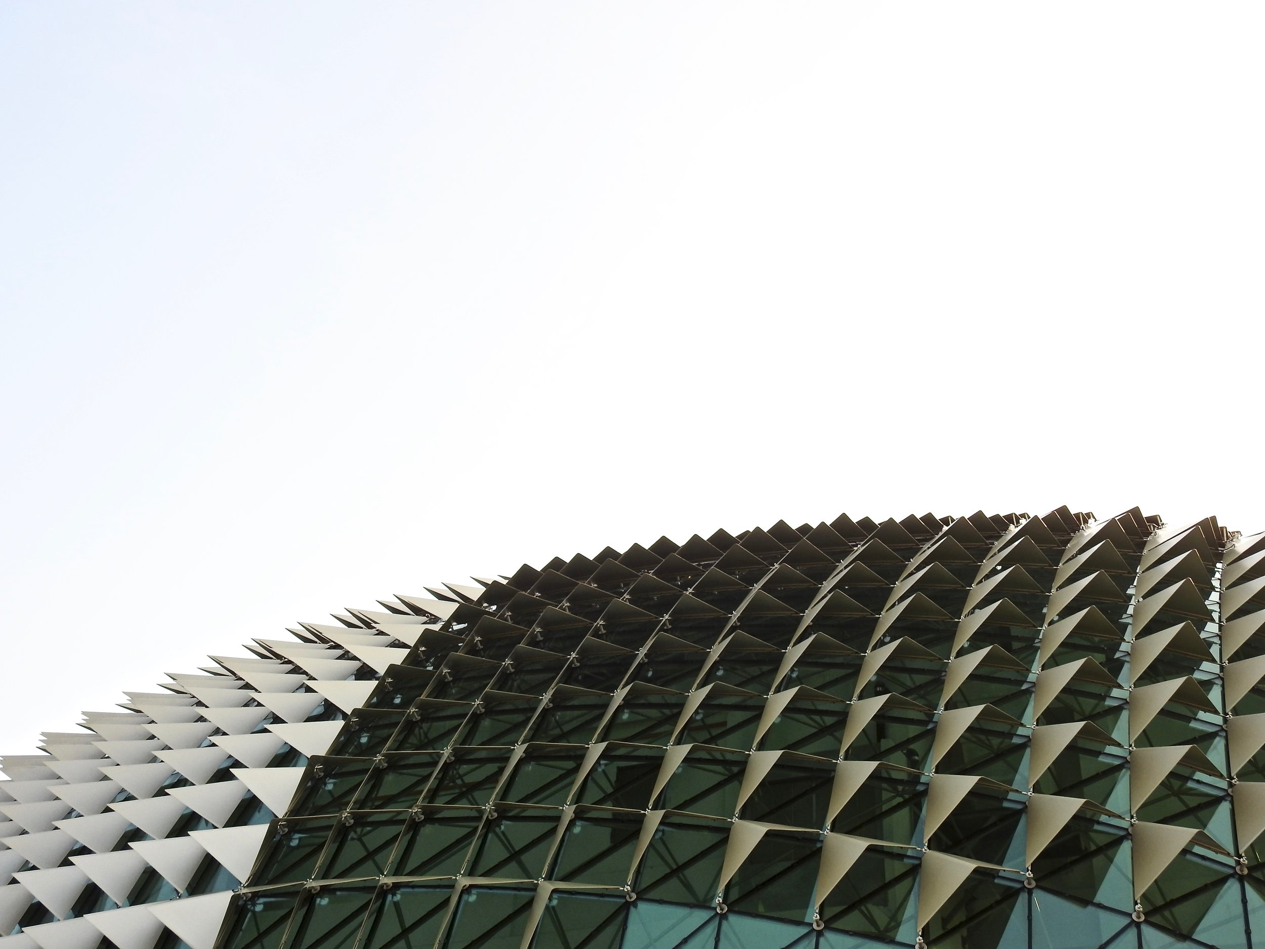 The Esplanade Theatre in Singapore is shaped like a durian. Photo: (C) Remko Tanis
