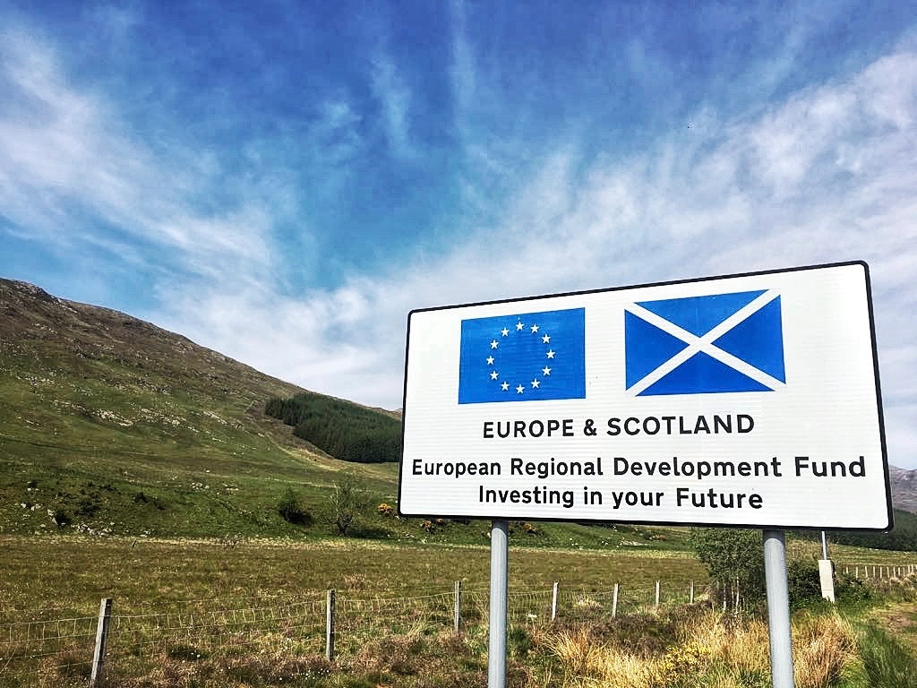 Scotland 2018, benefiting from European Union investments while it still can. Photo: (C) Remko Tanis