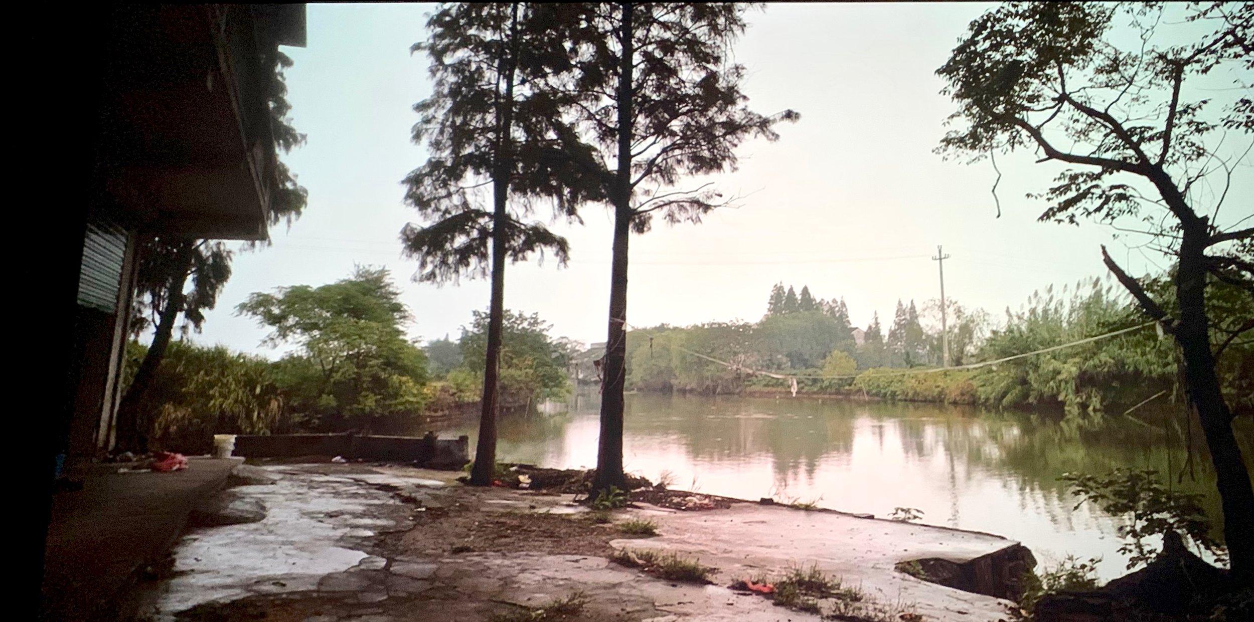 Mrs. Fang's village in southeastern Zhejiang province, China. Still from Wang Bing film  Fang Xiu Ying.