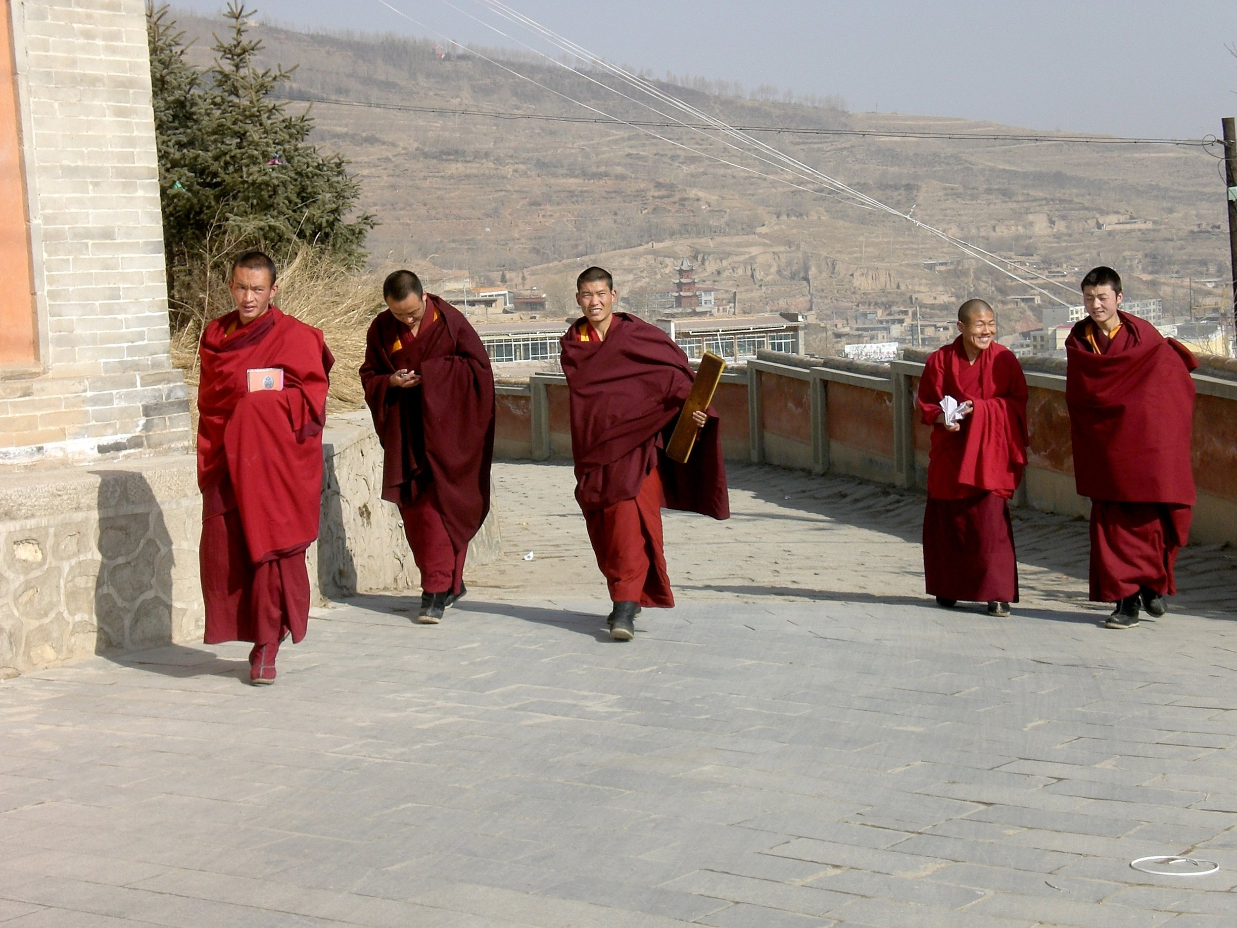 Tibetan monks at the Kumbum Ta'er monastery in Xining, capital of Qinghai province, China. Photo: (C) Remko Tanis