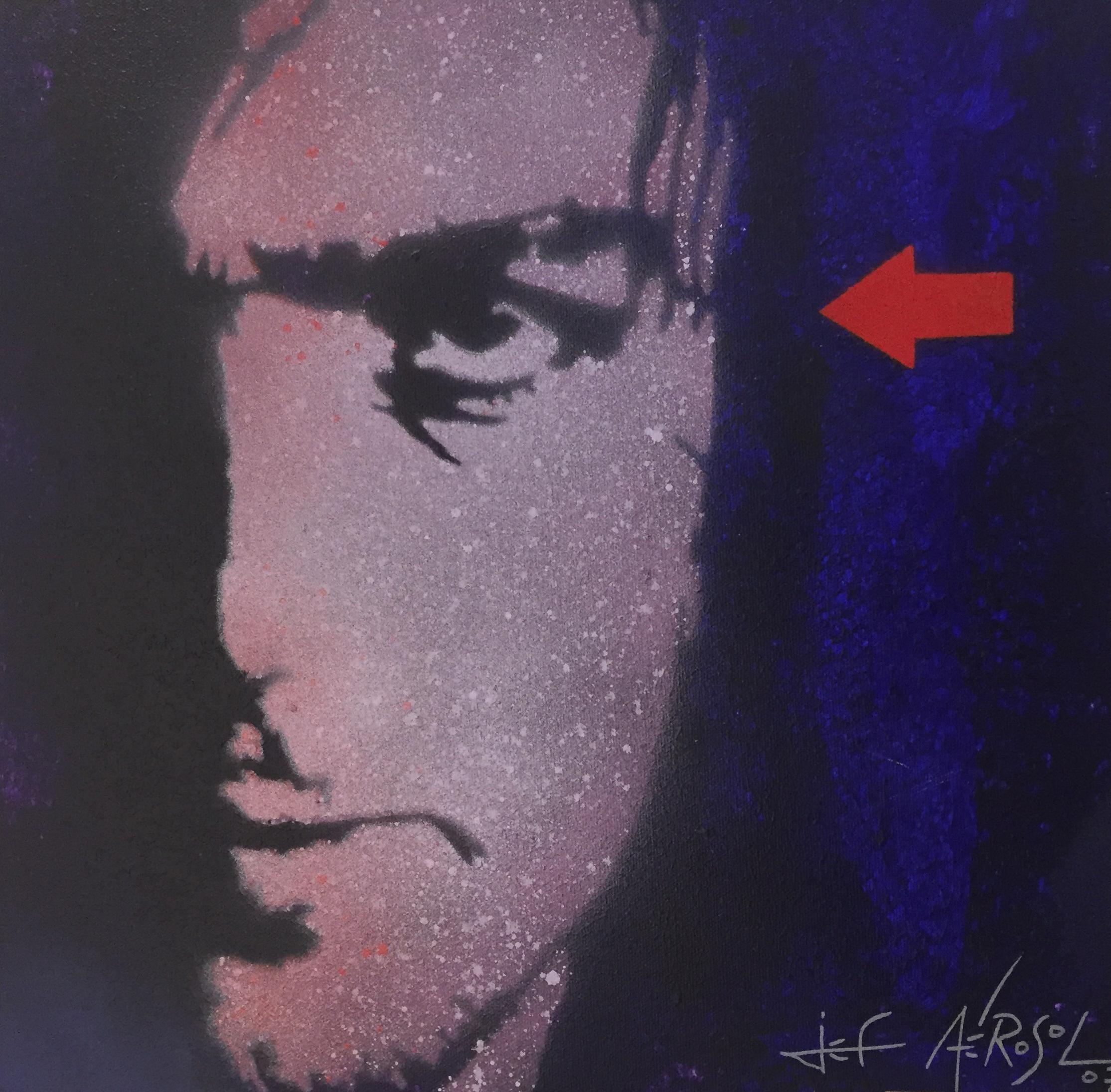 """Syd Barrett - 16"""" x 16"""" - Stencil on canvas"""
