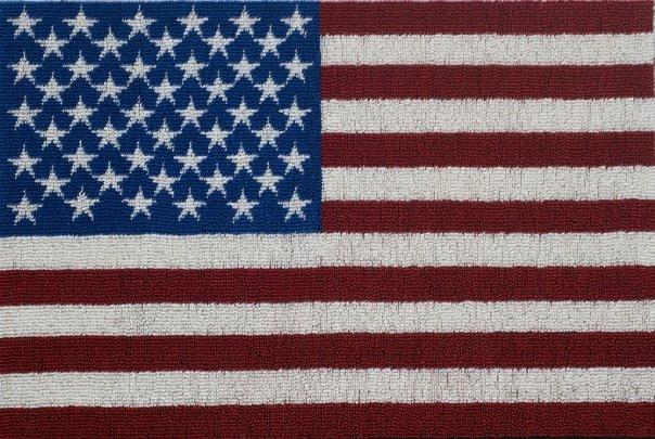 """Flag"" 44,450 hand cast urethane army men 6' wide x 4' tall x 1"" deep"
