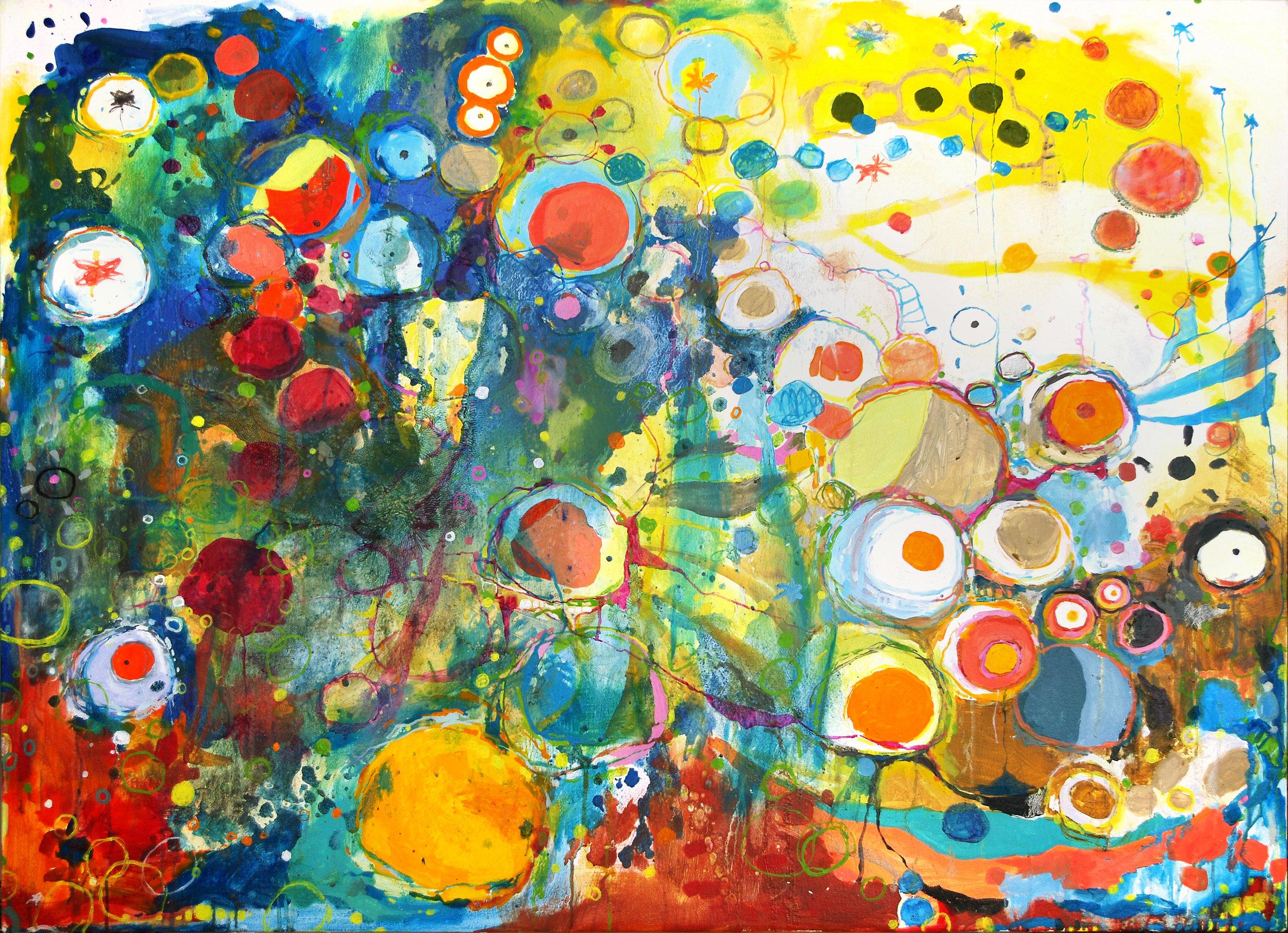 "Chaos Magic (#40), 2013 - Oil on canvas, 36"" x 50"""