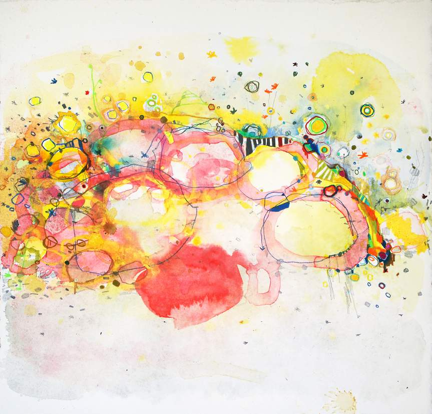 """#223, Watercolor and colored pencil on paper, 15"""" x 15""""  SOLD"""