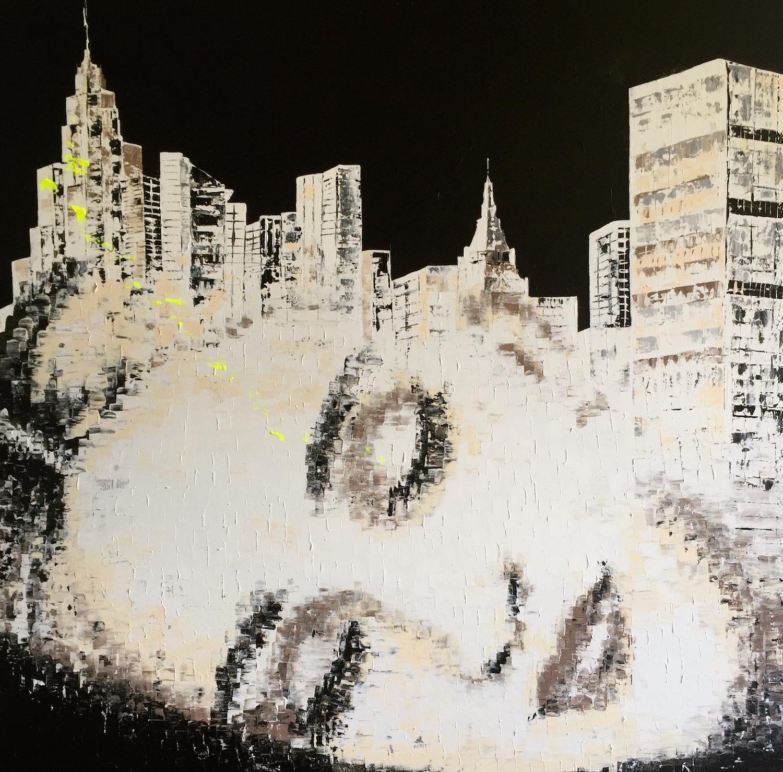"""Magic Dream 6""  Acrylic on canvas - 47 X 47 in."