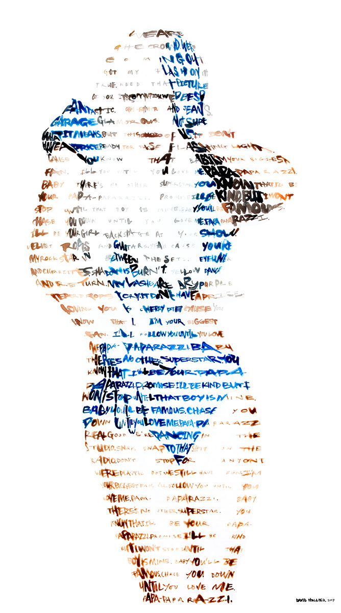 Lady Gaga   Acrylic on Board -48 x 28 in.