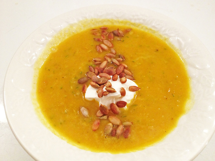 spicy, squashy soup