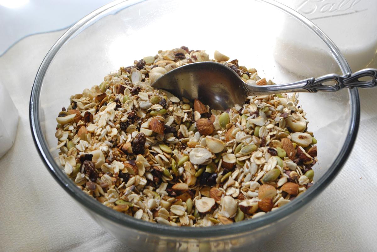 toasted muesli + date cinnamon almond milk | roux studio