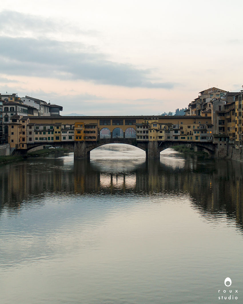 ponte vecchio in the evening  florence, italy | april 2014