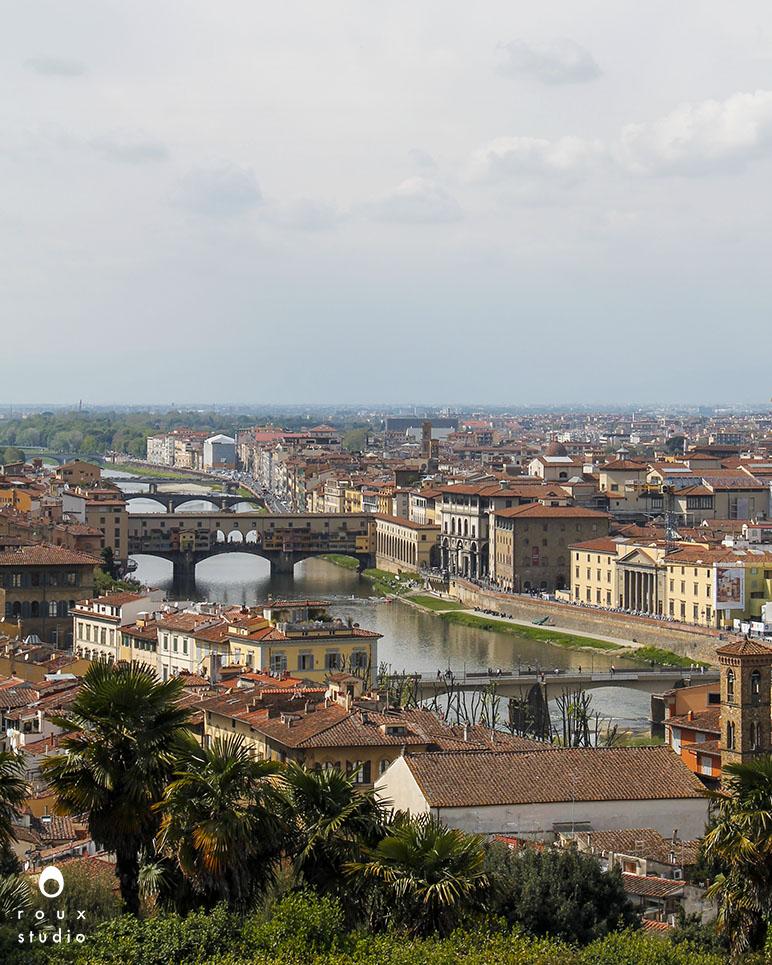 ponte vecchiofrom piazzale michelangelo  florence, italy | april 2014