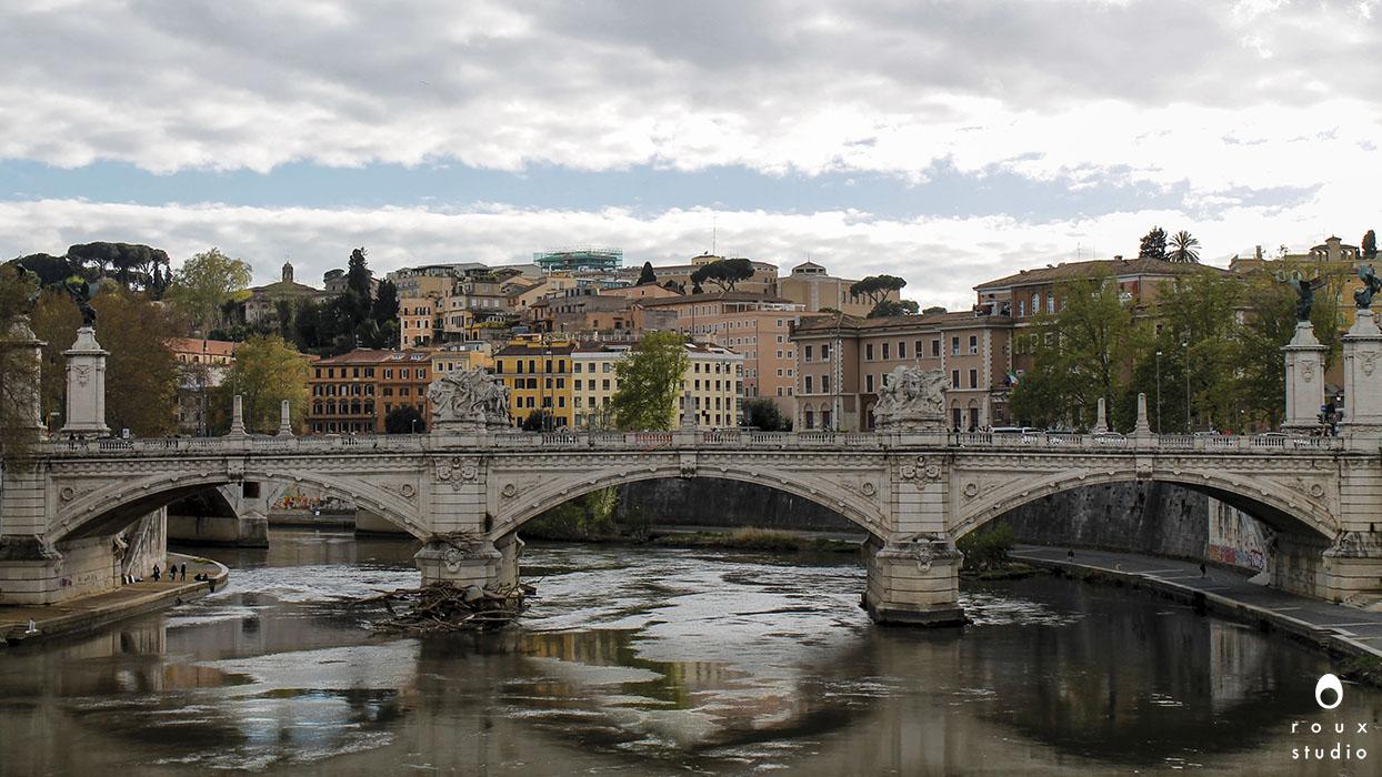 ponte vittorio emanuele ii   rome, italy | april 2014