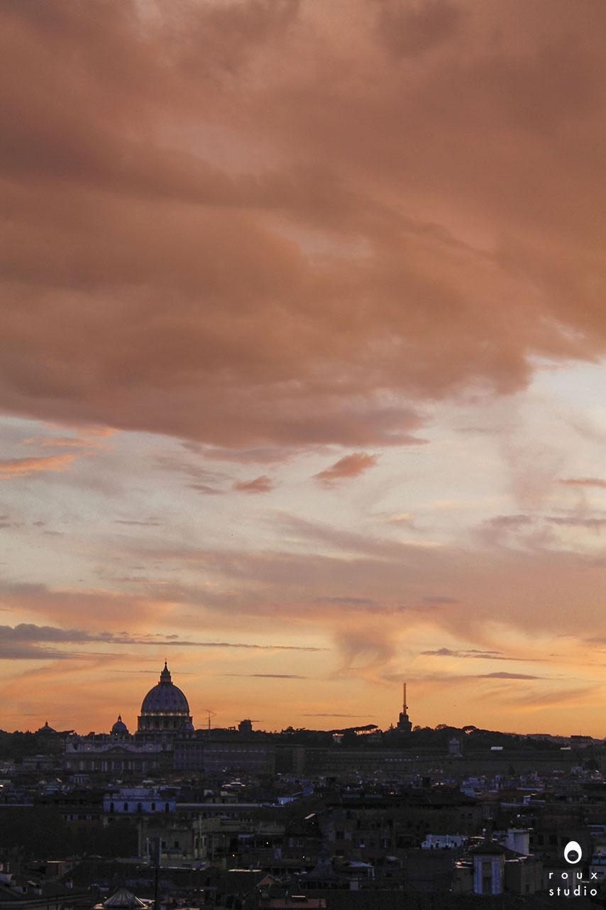 sunset from giardino degli aranci  rome, italy | april 2014