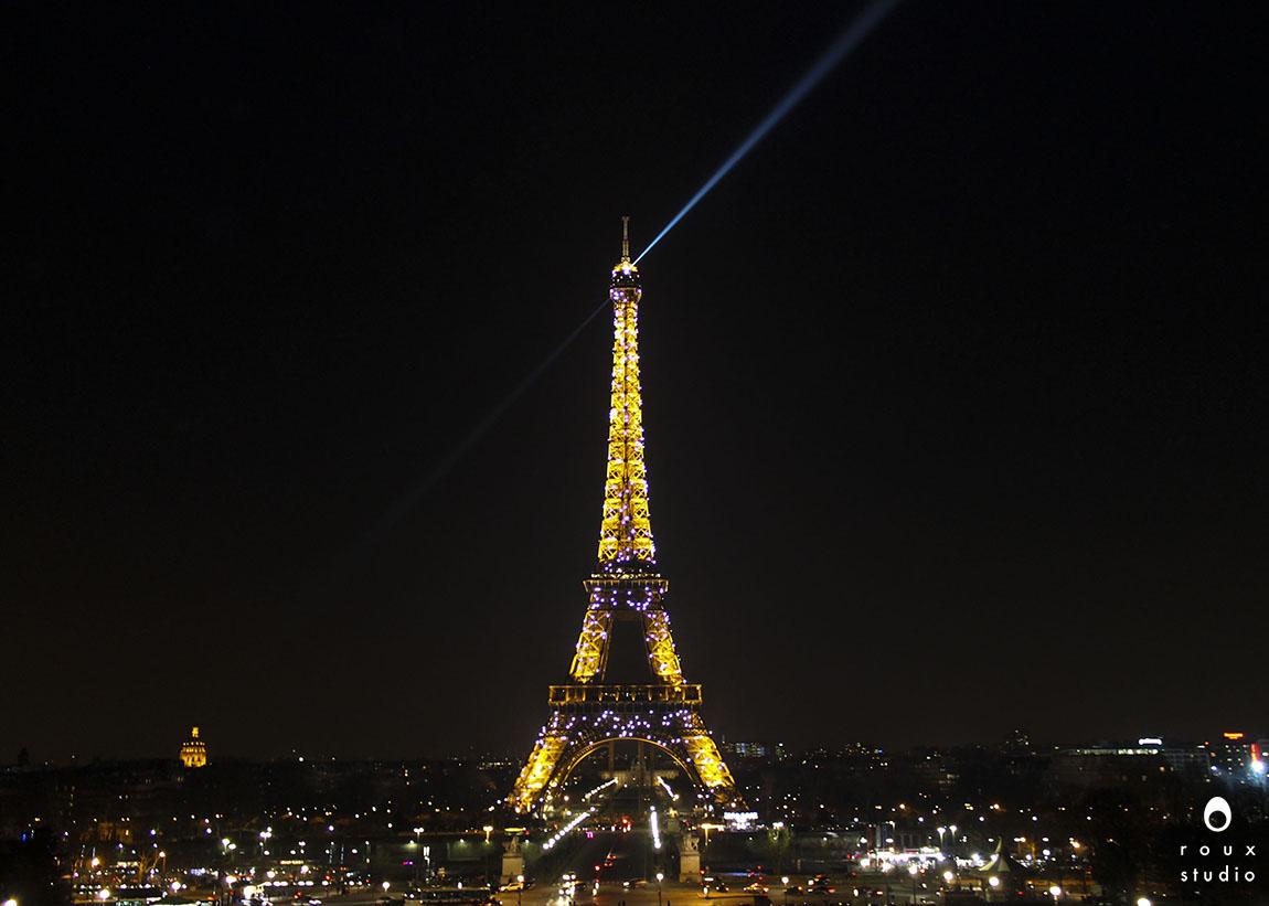 eiffel tower at night  paris, france | march 2014