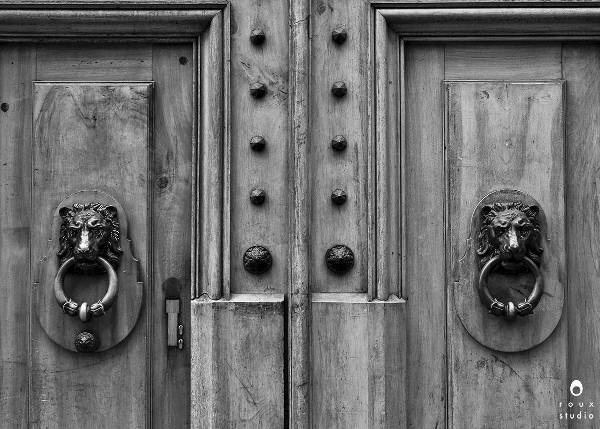lion door knockers  geneva, switzerland | december 2013
