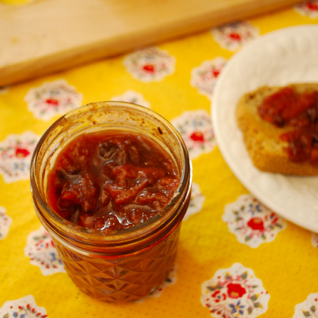 Spiced Drupe Fruit Chutney