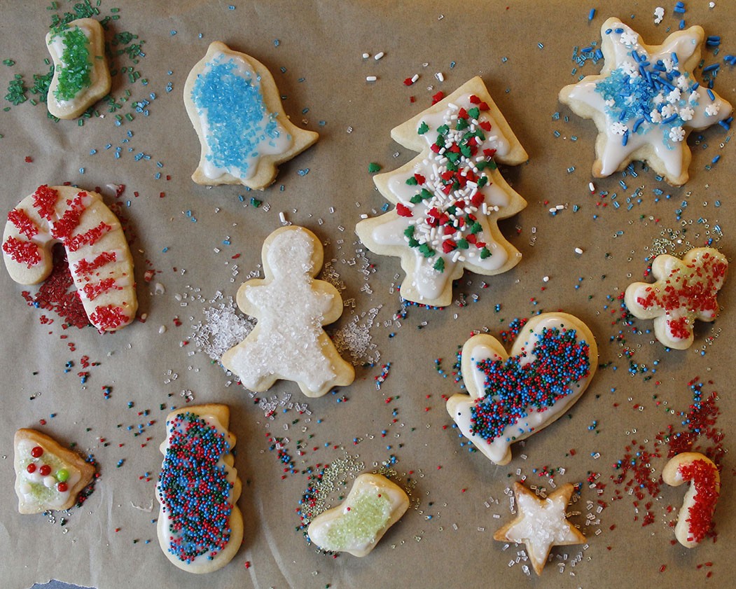 holiday cut-out sugar cookies