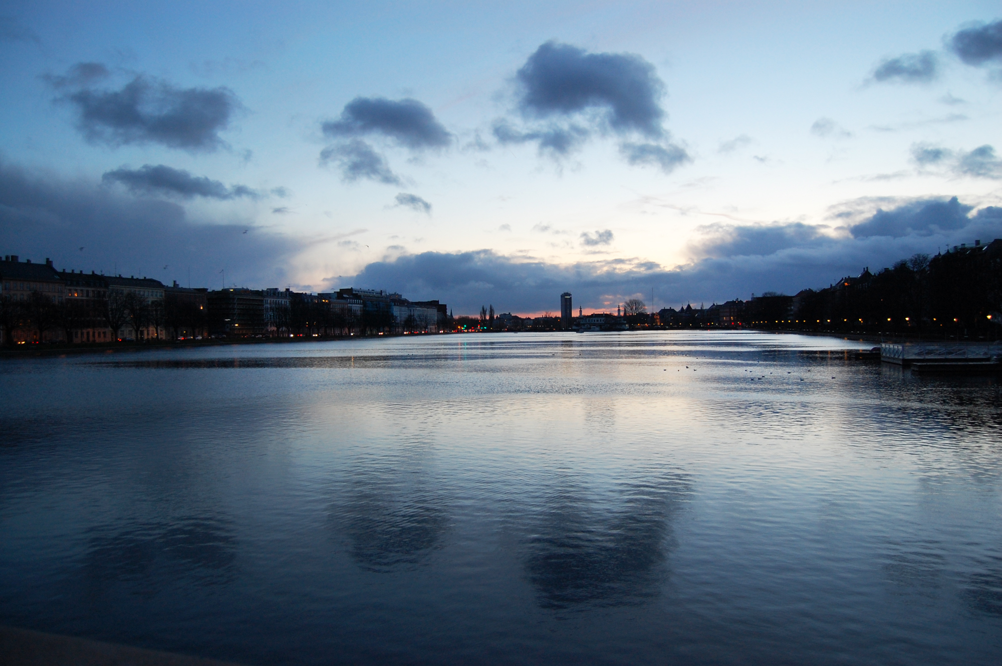 Sunset on the bridge to Nørrebro