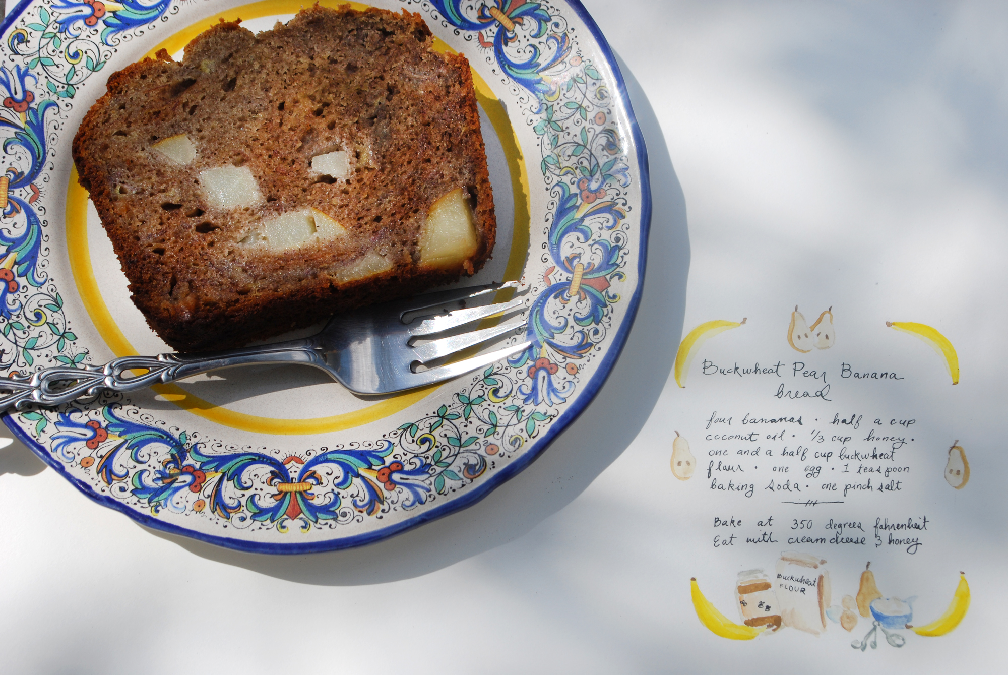 buckwheat pear banana bread | roux studio