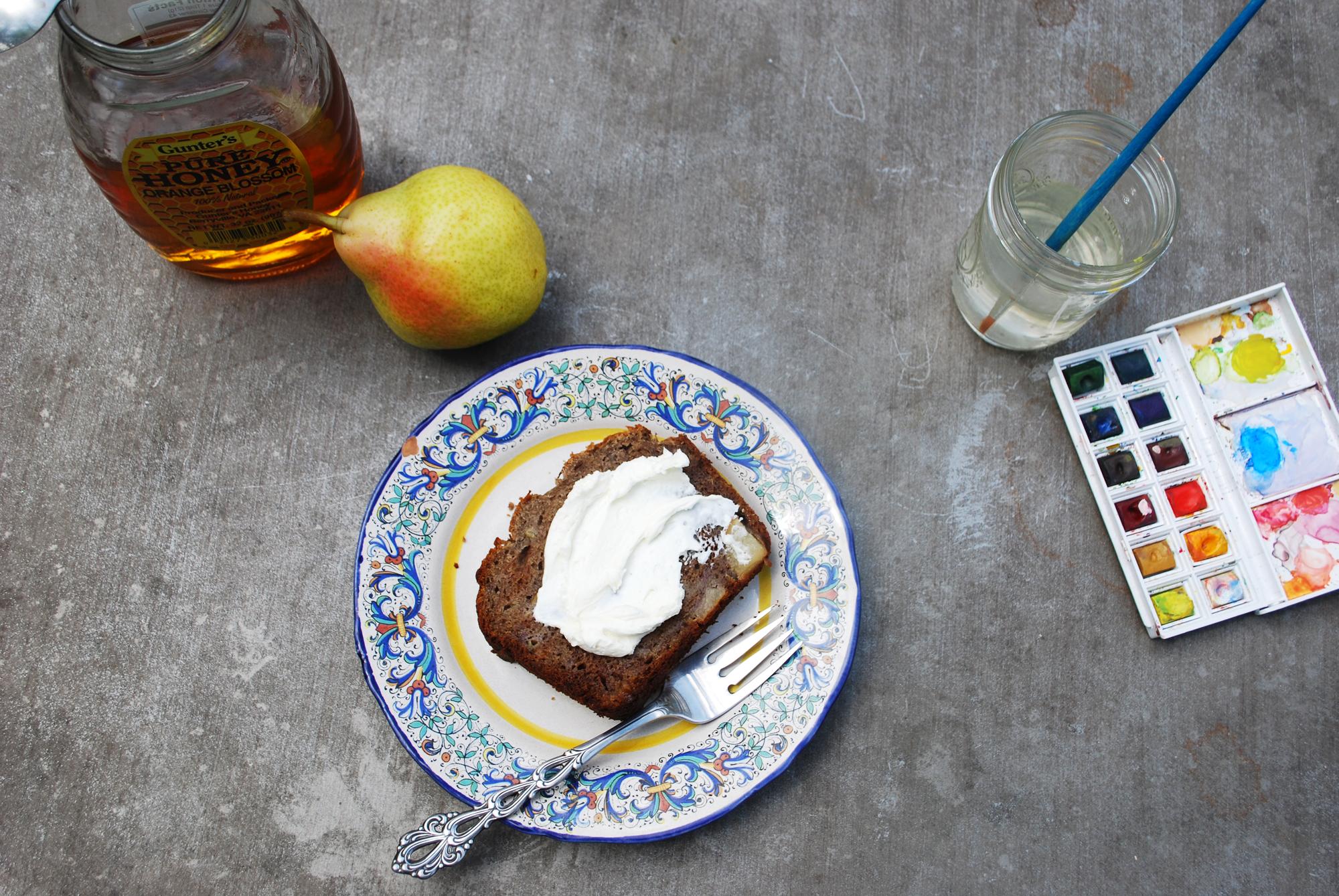 buckwheat pear banana bread | roux studio